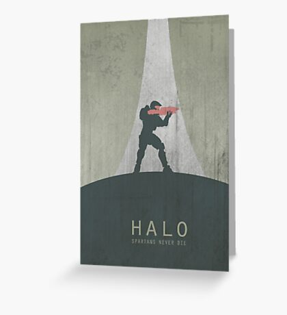 Halo Master Chief Game Poster Greeting Card