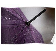 Purple Umbrella Poster