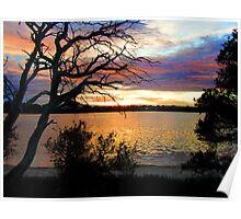 sun set at bremer bay wa Poster