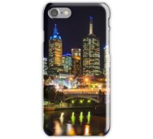 Melbourne City by night iPhone Case/Skin