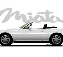 Mazda Miata white by car2oonz