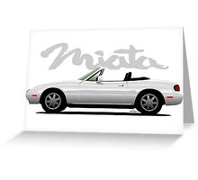 Mazda Miata white Greeting Card
