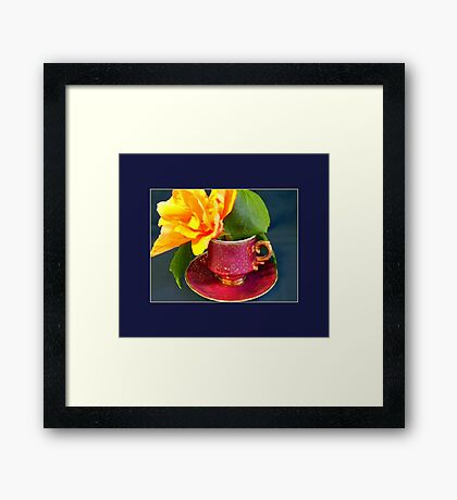 Demitasse, Ornate Framed Print