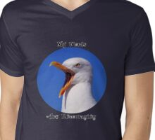 Encouraging Words Seagull Mens V-Neck T-Shirt