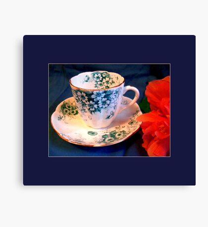 Demitasse, Floral Canvas Print