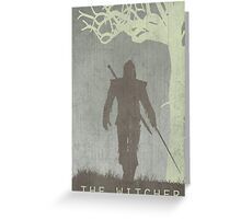 The Witcher Game Poster Greeting Card