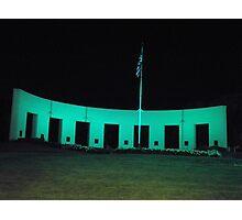 Vetrans Memorial Monument in Omaha Nebraska at Night Photographic Print