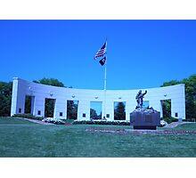 Vetrans Memorial Monument in Omaha Nebraska during the Day Photographic Print