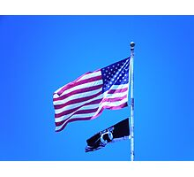 2 Flags to Honor Photographic Print