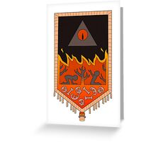 Bill Cipher Tapestry  Greeting Card