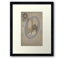 Portal Game Poster Framed Print