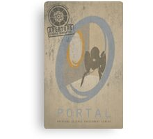 Portal Game Poster Canvas Print