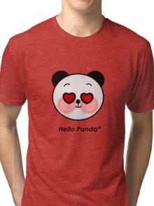 Hello Panda heart eyes T-Shirt Tri-blend T-Shirt