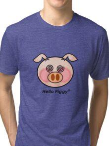 Funny Hello Piggy dazzling t-shirt  Tri-blend T-Shirt