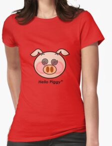 Funny Hello Piggy dazzling t-shirt  Womens Fitted T-Shirt