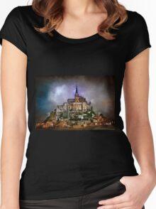 Mont Saint Michel  Women's Fitted Scoop T-Shirt