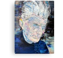 SAMUEL BECKETT - oil portrait Canvas Print