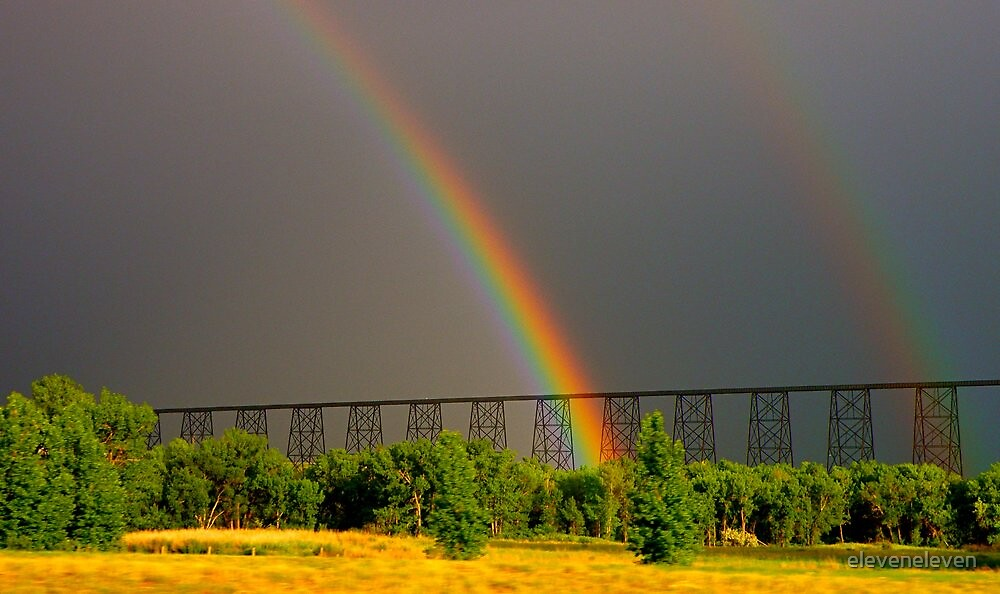 Double Rainbow Bridge by eleveneleven