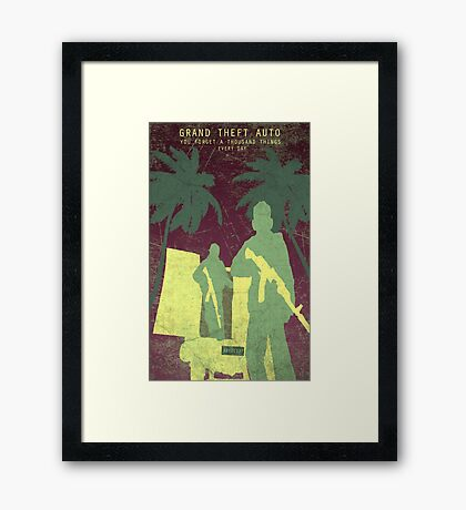 GTA 5 Game Poster Framed Print