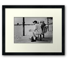 Consideration To The Sea Framed Print