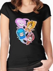 Mystery Skulls Women's Fitted Scoop T-Shirt