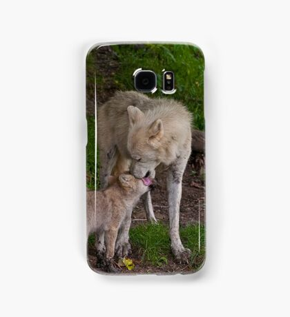 Arctic Wolf And Pup Samsung Galaxy Case/Skin