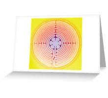 yellow aura chartres labyrinth Greeting Card