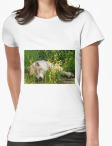 Arctic Wolf Womens Fitted T-Shirt
