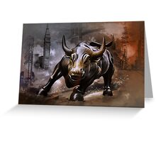Raging Bull.New York. Greeting Card