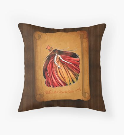 Who is the Mad Hatter ? Red Riding Hood Throw Pillow