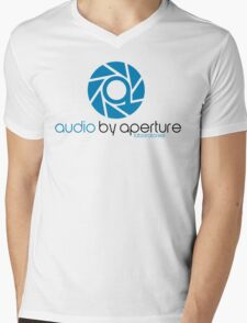 audio by aperture (Aperture Tag) Mens V-Neck T-Shirt