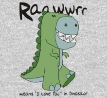 "Raawwrr means ""I Love You"" in Dinosaur Kids Clothes"
