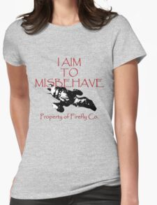 Aim to Misbehave Black and White Womens Fitted T-Shirt
