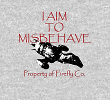 Aim to Misbehave Black and White T-Shirt