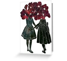 Flower Girls Greeting Card
