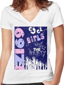 01 Women's Fitted V-Neck T-Shirt