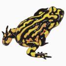 Corroboree frog single tee by Laura Grogan