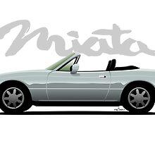 Mazda Miata silver by car2oonz