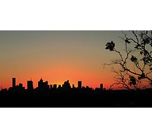 City Silhouette 1 Photographic Print