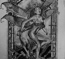 Dragonfly Fairy - art nouveau   by Susan van Zyl
