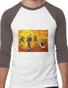 The encounter at sunrise. Men's Baseball ¾ T-Shirt