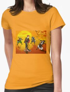 The encounter at sunrise. Womens Fitted T-Shirt