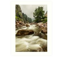 South St Vrain Canyon Portrait Boulder County CO Art Print