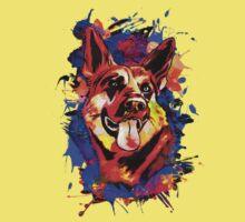 Wolf abstract. Kids Tee