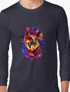 Wolf abstract. Long Sleeve T-Shirt