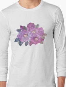 Rose Buds (Pastel) Long Sleeve T-Shirt