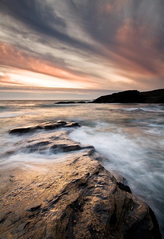 Trebarwith Sunset by igotmeacanon