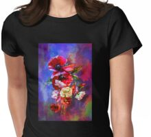 Poppies. Womens Fitted T-Shirt