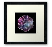 Cosmic Seed of Life Framed Print