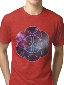Cosmic Seed of Life Tri-blend T-Shirt